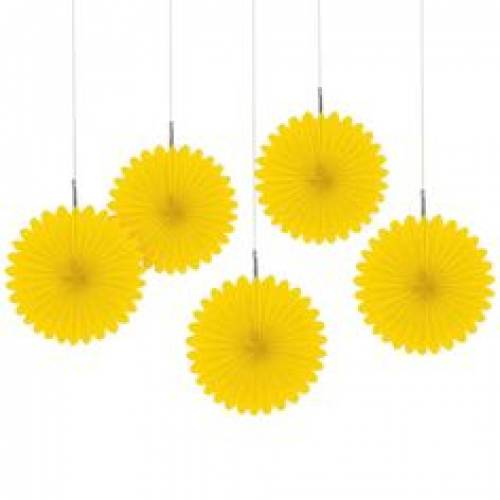 Yellow Fans - 5 pack