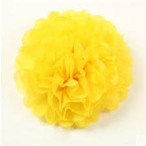 Tissue Paper Pom Pom 40cm - Yellow