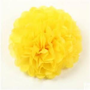 Tissue Paper Pom Pom 30cm - Yellow