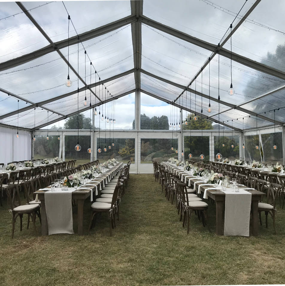 Great value peg and pole and framed marquee hire.