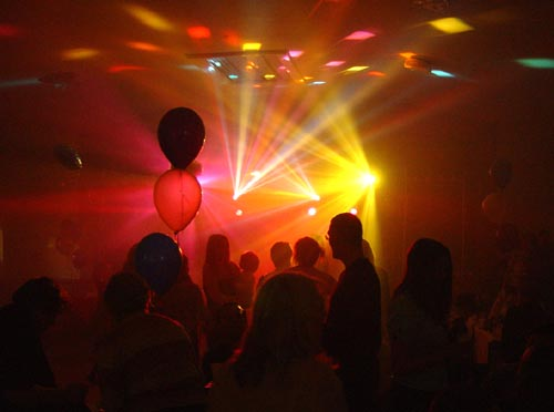 party lighting and disco lights for hire