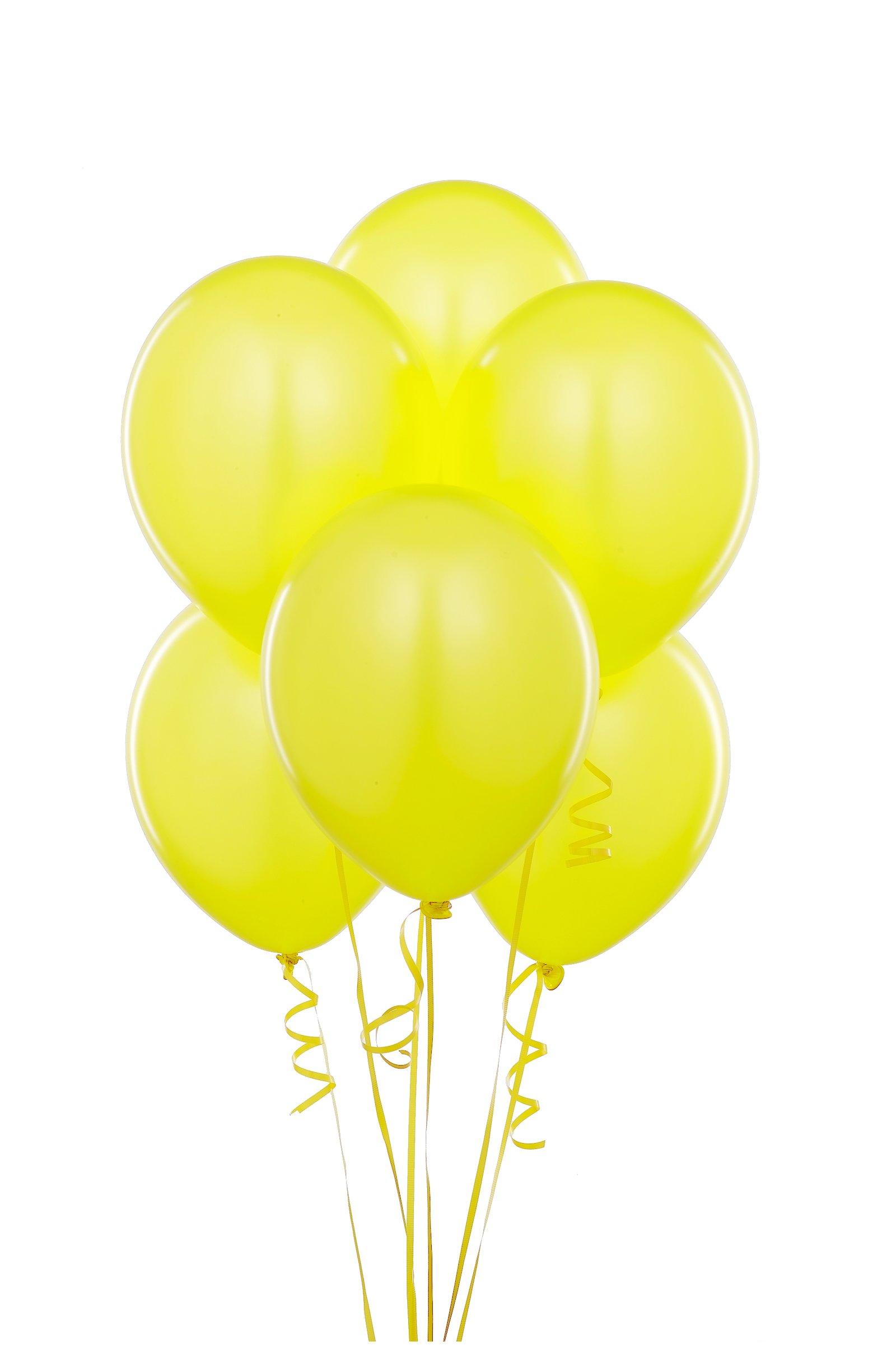 Yellow Balloons Blue Party Helium Balloon