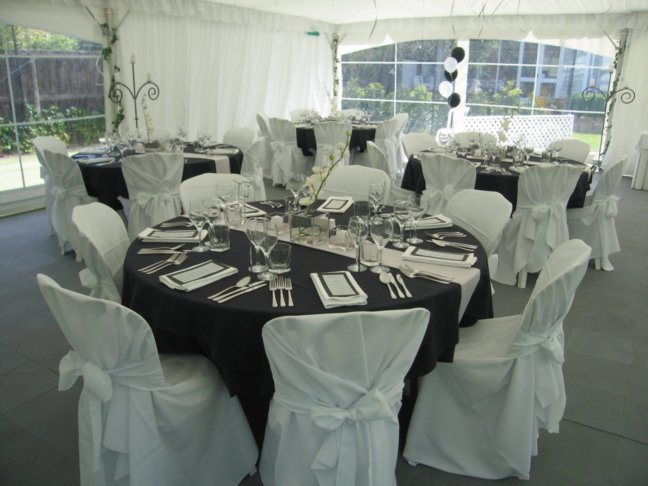 Formal Dinner Setting Done In Black Silver Amp White Theme
