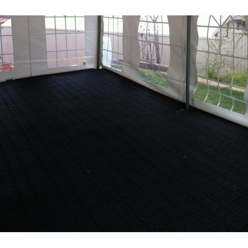 Plastic Interlock Flooring Tiles   Black