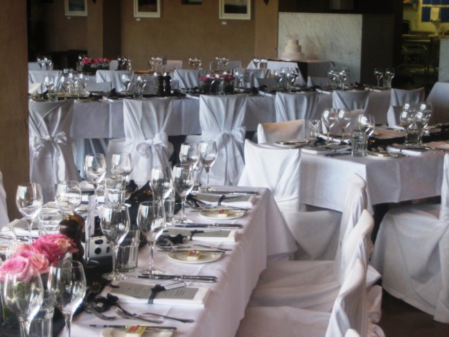 Rectangle Table Setting Party Hire Weddings